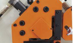 hydraulic angle shear holddown